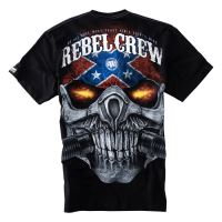 Tričko PitBull West Coast REBEL SKULL