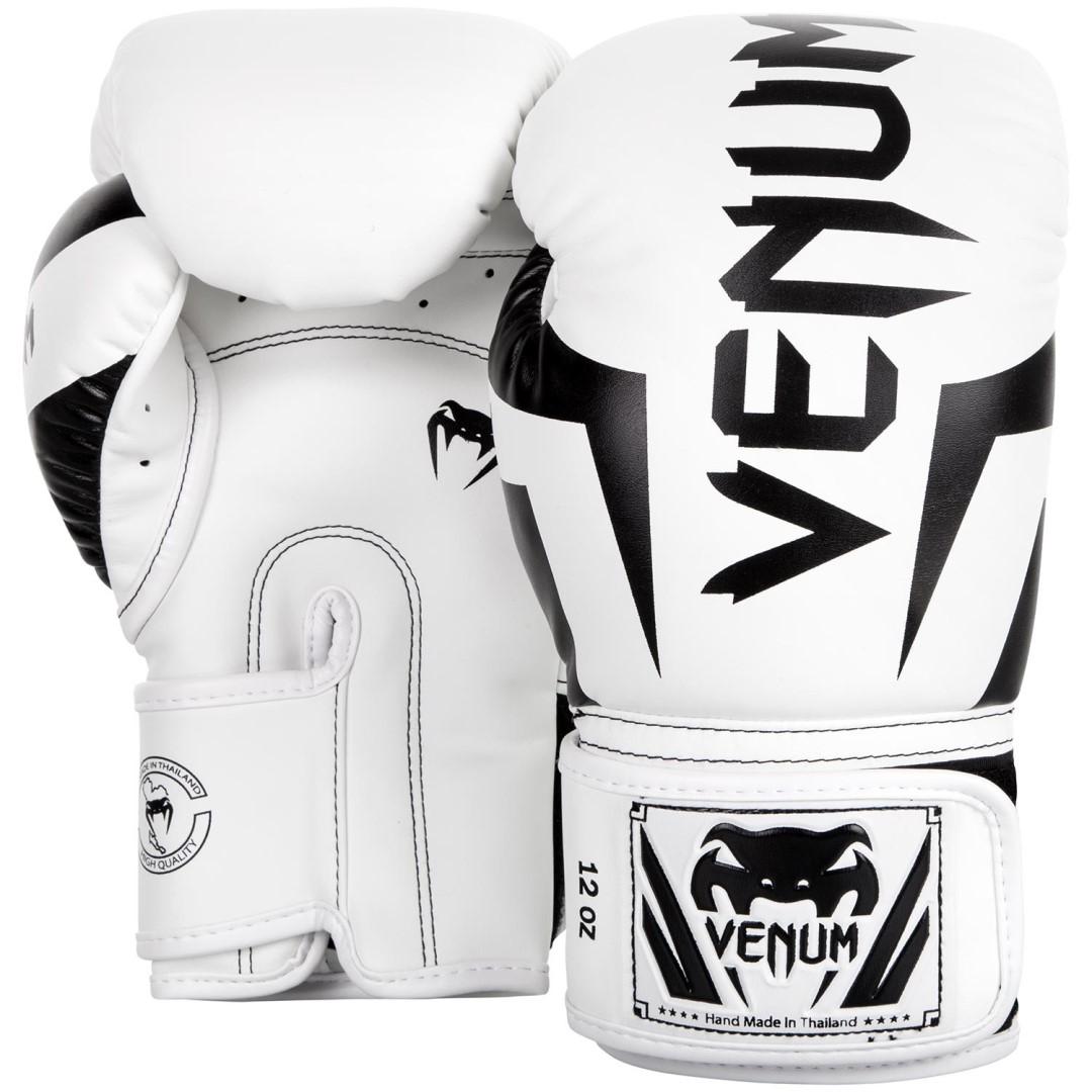 Boxerské rukavice VENUM Elite bílo-černá - JEMASPORT 583e2338aa