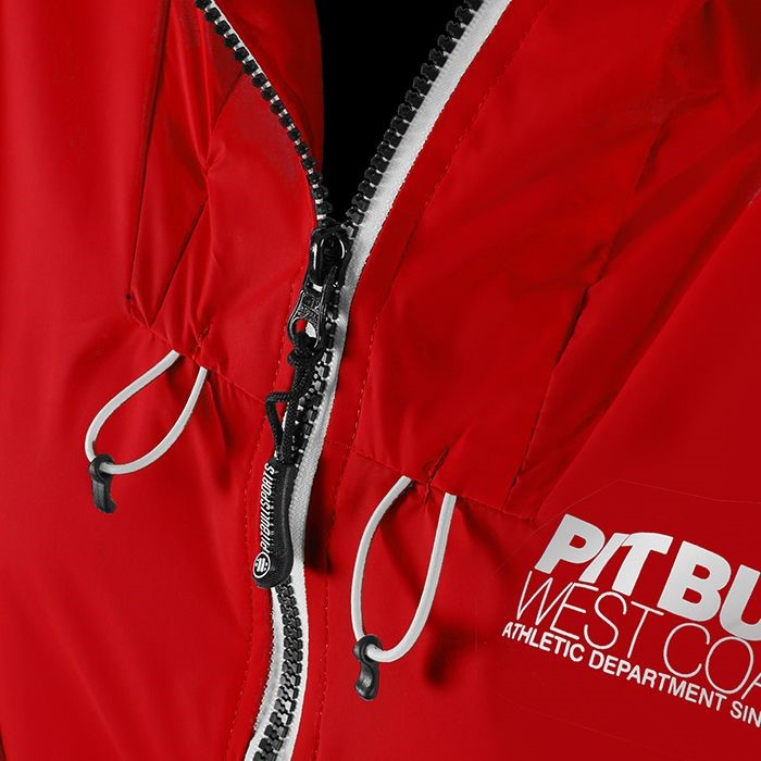 Dámská bunda PitBull West Coast AARICIA 3 červená - S - JEMASPORT bd258359e9